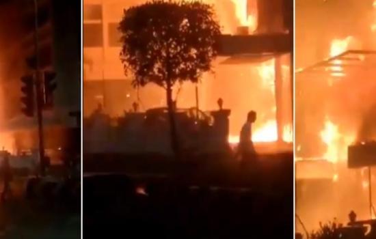 Mueren 11 contagiados en incendio de hotel alquilado para atenderlos