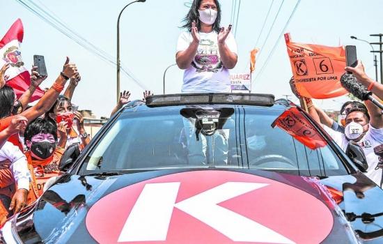 Keiko sigue ganando puntos en encuestas por presidencia de Perú