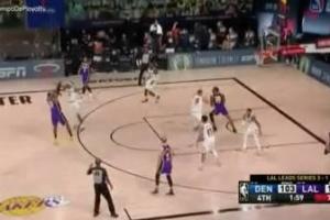 Este triple es 'El triple': LeBron sentenciando el partido y metiendo a los Lakers en las Finales
