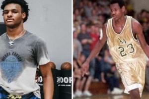 Gotas de agua: la NBA alucina con las fotos del hijo de LeBron