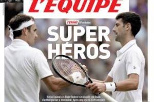 La prensa mundial se rinde a Djokovic y Federer tras su final de Wimbledon: