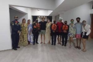 Rescatan de naufragio a Laura Tobón y familiares en la Ciénaga Grande