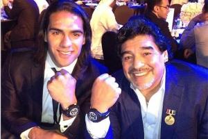 'Marcaste mi vida con tu cercanía y tu cariño': Falcao a Maradona