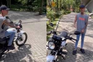La Liendra le regaló una moto al vigilante de su edificio