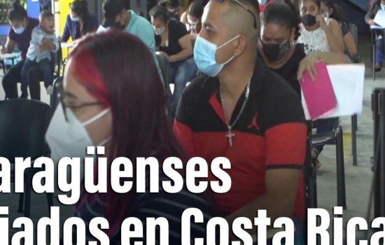 Nicaragüenses exiliados reclaman democracia